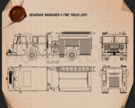 Seagrave Marauder II Fire Truck 2014 Blueprint