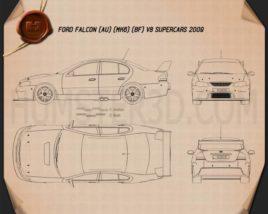 Ford Falcon V8 Supercars 2009 Blueprint