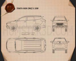 Toyota Rush S 2018 Blueprint
