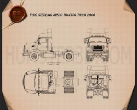 Ford Sterling A9500 Tractor Truck 2006 Blueprint