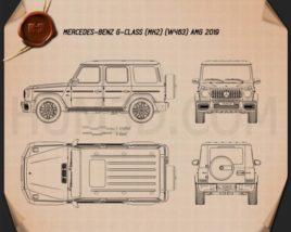 Mercedes-Benz G-class (W463) AMG 2019 Blueprint