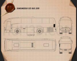 Sunsundegui SC5 Bus 2015 Blueprint