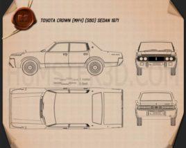 Toyota Crown sedan 1971 Blueprint