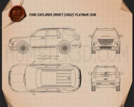 Ford Explorer (U502) Platinum 2018 Blueprint