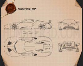 Ford GT 2017 Blueprint