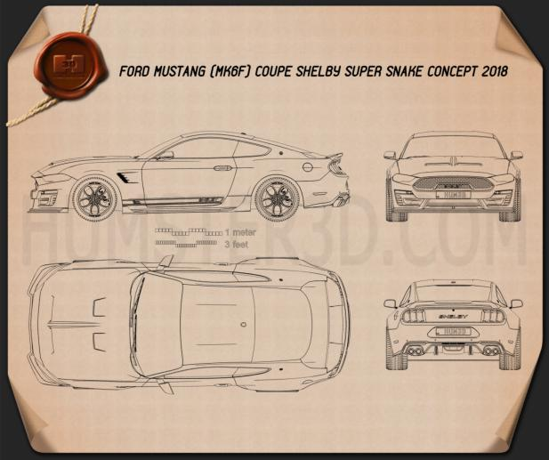 Ford Mustang Shelby Super Snake coupe 2018 Blueprint