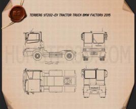 Terberg YT202-EV BMW Factory Tractor Truck 2015 Blueprint