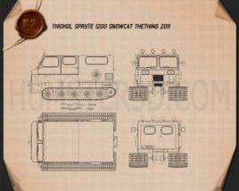 Thiokol Spryte 1200 Snowcat 2011 Blueprint
