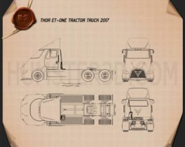 Thor ET-One Tractor Truck 2017 Blueprint