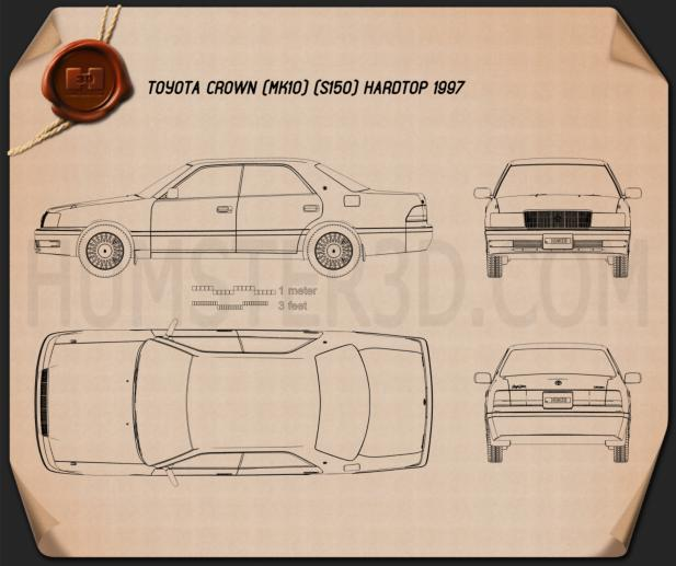 Toyota Crown hardtop 1997 Blueprint