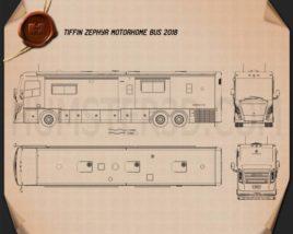 Tiffin Zephyr Motorhome Bus 2018 Blueprint