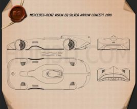 Mercedes-Benz Vision EQ Silver Arrow 2018 Blueprint