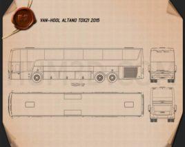 Van Hool Altano TDX21 2015 Blueprint