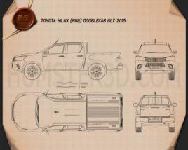 Toyota Hilux Double Cab GLX 2015 Blueprint