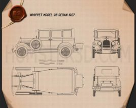 Whippet Model 96 sedan 1927 Blueprint