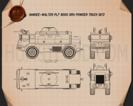 Yankee-Walter PLF 6000 Dry Powder Fire Truck 1972 Blueprint