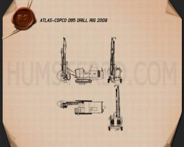 Atlas-Copco D65 Drill Rig 2009 Blueprint