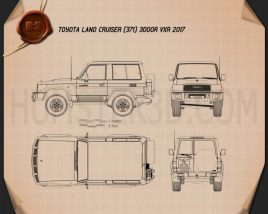 Toyota Land Cruiser 3-door VXR 2017 Blueprint