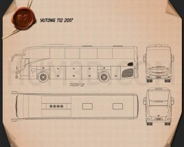 Yutong T12 2017 Blueprint