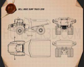 Bell B60E Dump Truck 2016 Blueprint