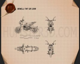 Benelli TNT 125 2018 Blueprint