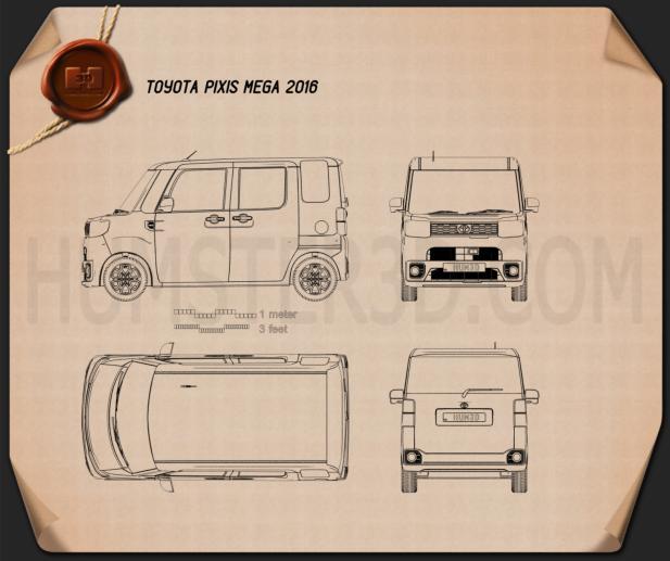 Toyota Pixis Mega 2016 Blueprint