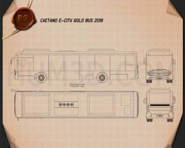 Caetano e-City Gold Bus 2016 Blueprint