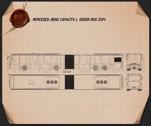 Mercedes-Benz CapaCity L 5-door Bus 2014 Blueprint