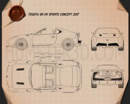 Toyota GR HV Sports 2017 Blueprint