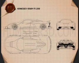 Hennessey Venom F5 2019 Blueprint