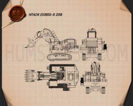 Hitachi EX3600-6 2018 Blueprint