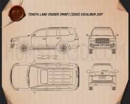 Toyota Land Cruiser Excalibur 2017 Blueprint