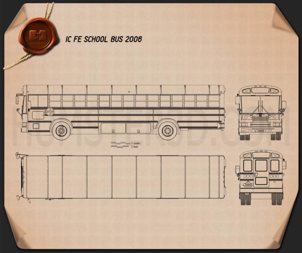 IC FE School Bus 2006 Blueprint