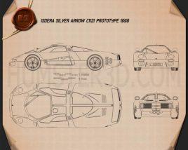 Isdera Silver Arrow C112i Prototype 1999 Blueprint