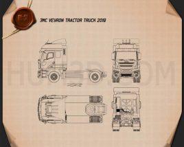 JMC Veyron Tractor Truck 2019 Blueprint
