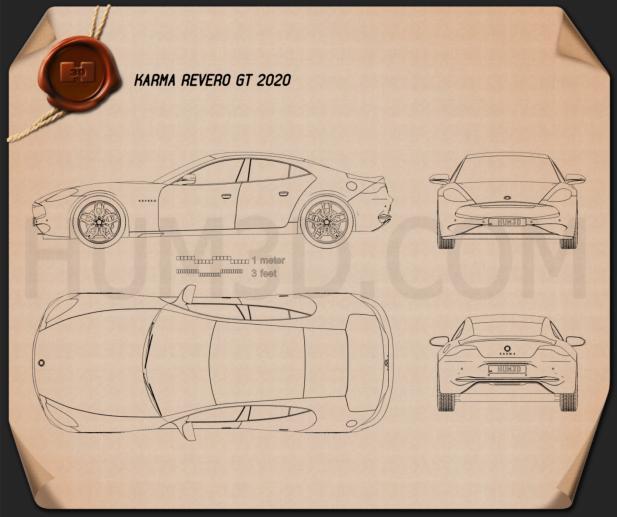 Karma Revero GT 2020 Blueprint