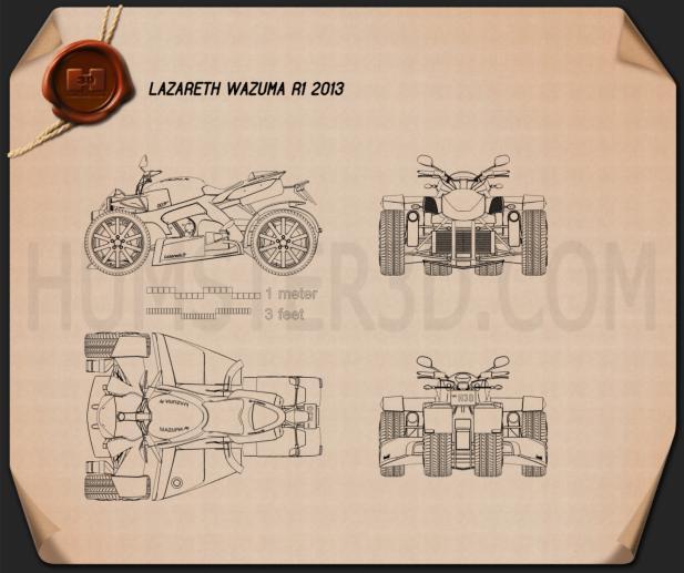 Lazareth Wazuma R1 2013 Blueprint