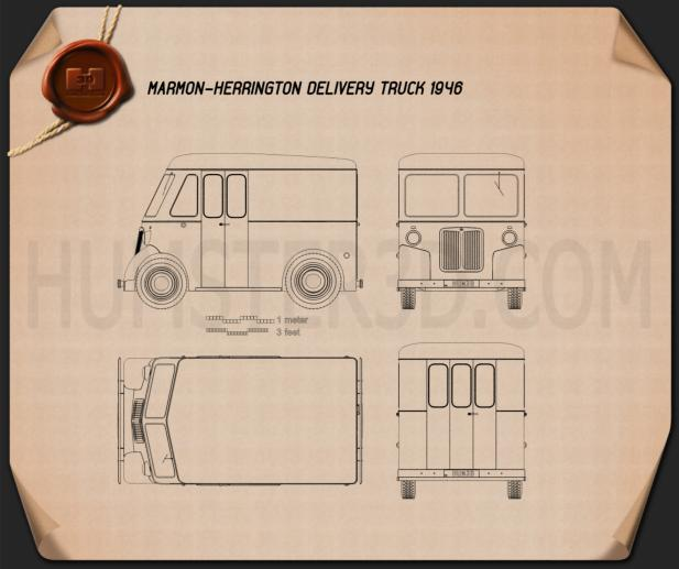 Marmon-Herrington Delivery Truck 1946 Blueprint