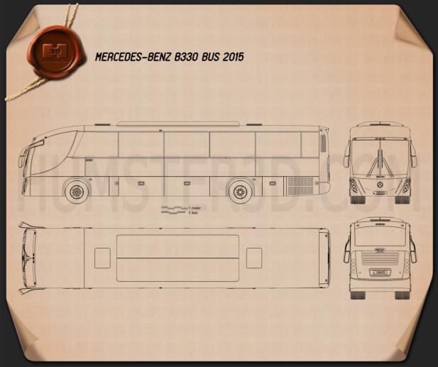 Mercedes-Benz B330 Bus 2015 Blueprint