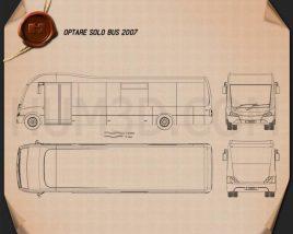 Optare Solo Bus 2007 Blueprint