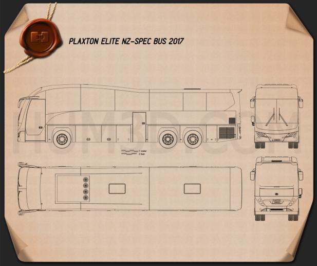 Plaxton Elite NZ-spec Bus 2017 Blueprint