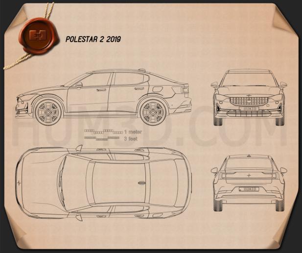 Polestar 2 2019 Blueprint