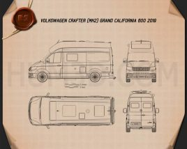 Volkswagen Crafter Grand California 600 2019 Blueprint