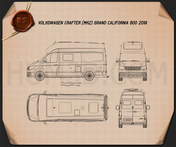 Volkswagen Crafter Grand California 600 2019 Blueprint