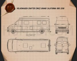 Volkswagen Crafter Grand California 680 2019 Blueprint