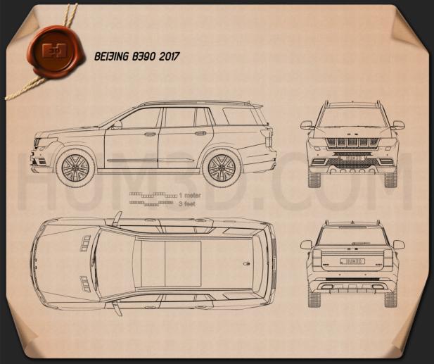Beijing BJ90 2017 Blueprint