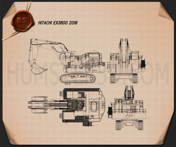 Hitachi EX3600 2018 Blueprint
