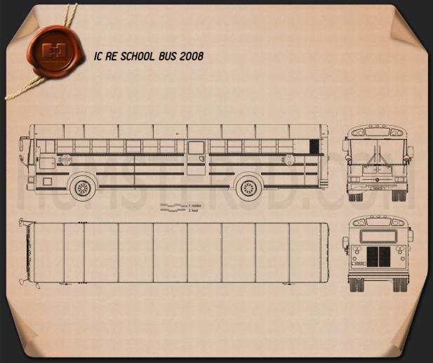 IC RE School Bus 2008 Blueprint