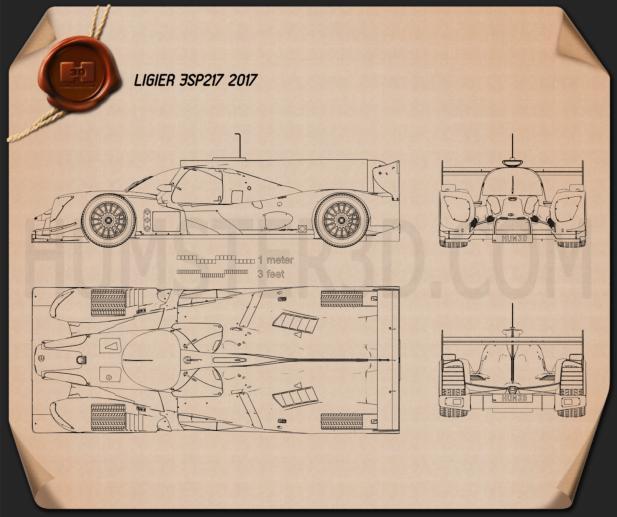 Ligier JSP217 2017 Blueprint