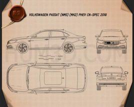 Volkswagen Passat PHEV CN-spec 2019 Blueprint